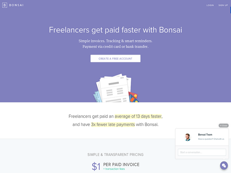 TheMerkle_Bonsai Invoicing