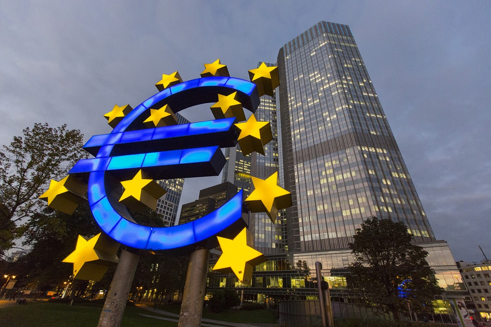TheMerkle_European Central Bank Headquarters And Frankfurt's Financial District Ahead Of Comprehensive Bank Assessment
