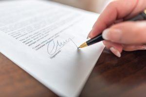 forex broker contract