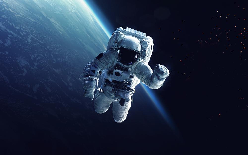 astronaut says hello