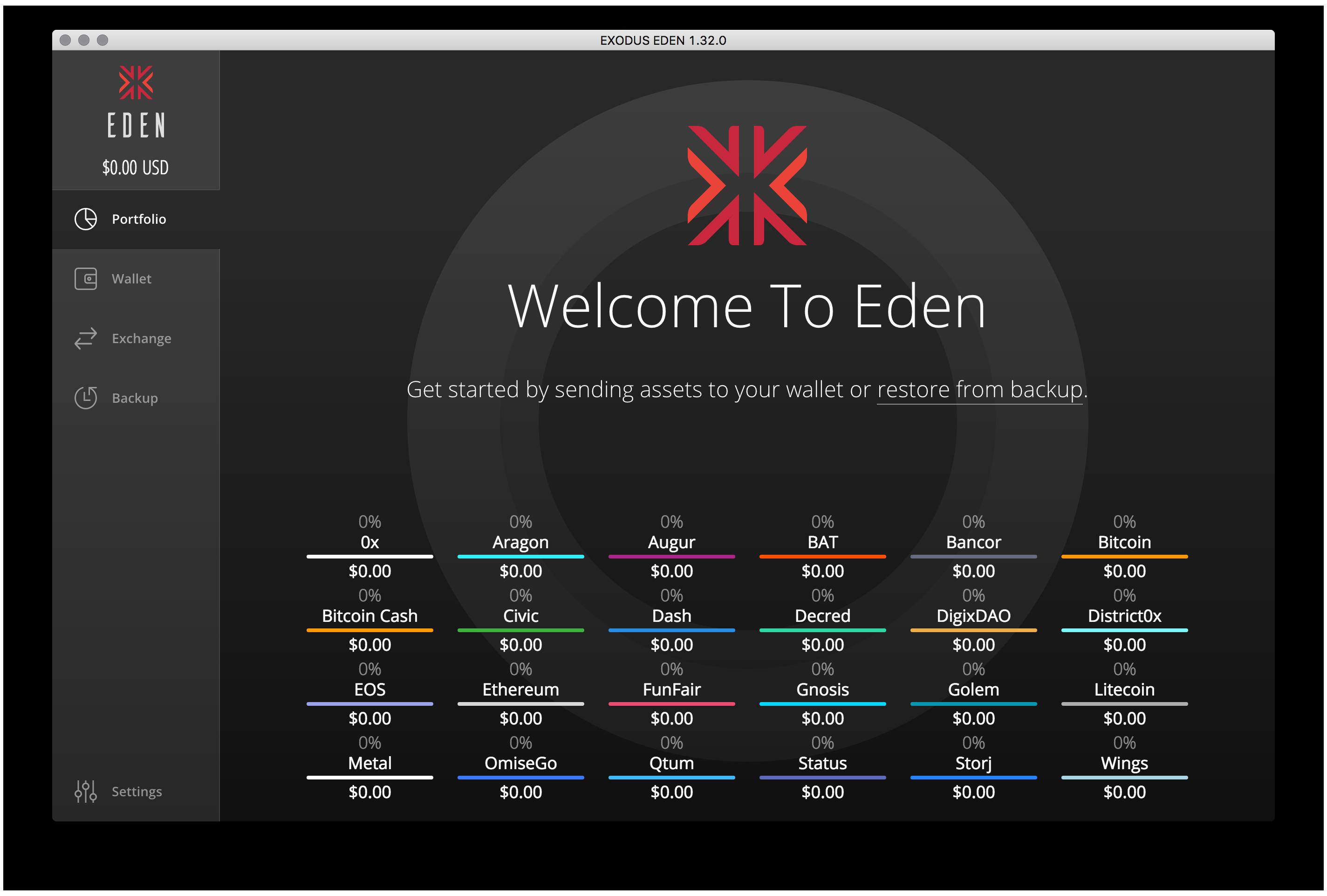 TheMerkle Exodus Eden Wallet