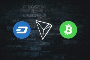dash tron bitcoin cash