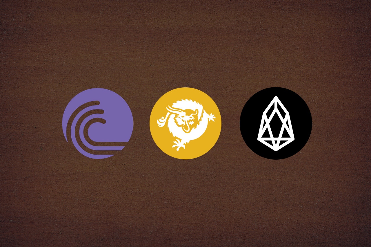 bittorrent token, bitcoin sv, eos logos featured